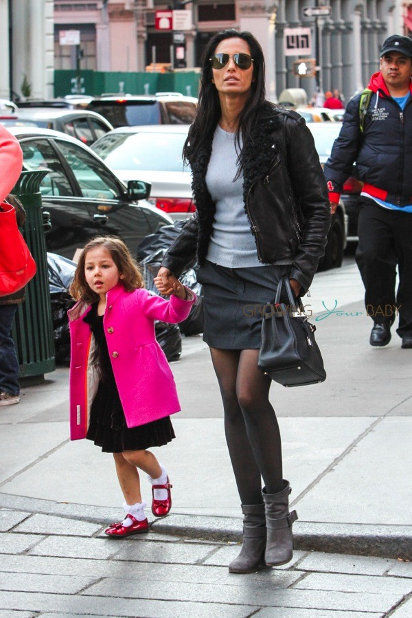 Padma Lakshmi Out Shopping In Soho With Daughter Krishna