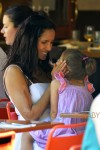 Padma Lakshmi seen baby daughter, Krishna Thea Lakshmi-Dell seen eating at Bar Pitti restaurant in New York City