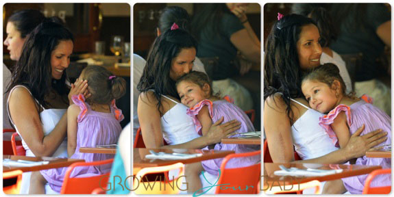 Padma Lakshmi with her daughter Krishna Dell