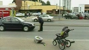 Passersby in BC Save Baby From Accident that Trapped Stroller Underneath Car