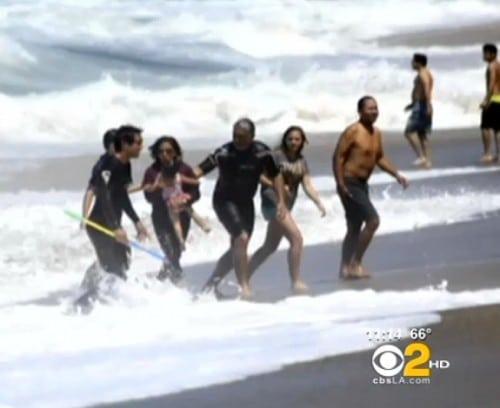 Patrick Watson rescues baby at Aliso Beach Park