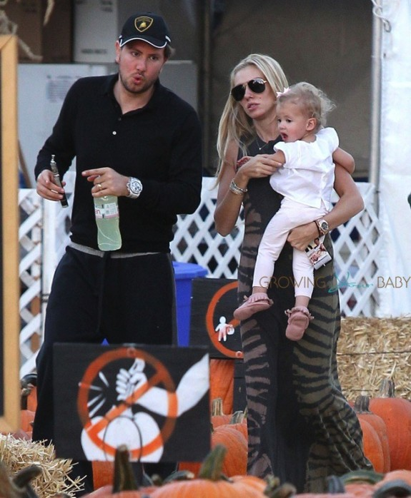 Petra Ecclestone and James Stunt at Mr. Bones with daughter Lavinia