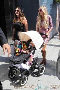 Petra Ecclestone, baby Lavinia and sister Tamara enjoy a family day out