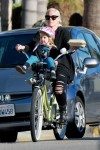 Pink takes daughter Willow for a bike ride in LA