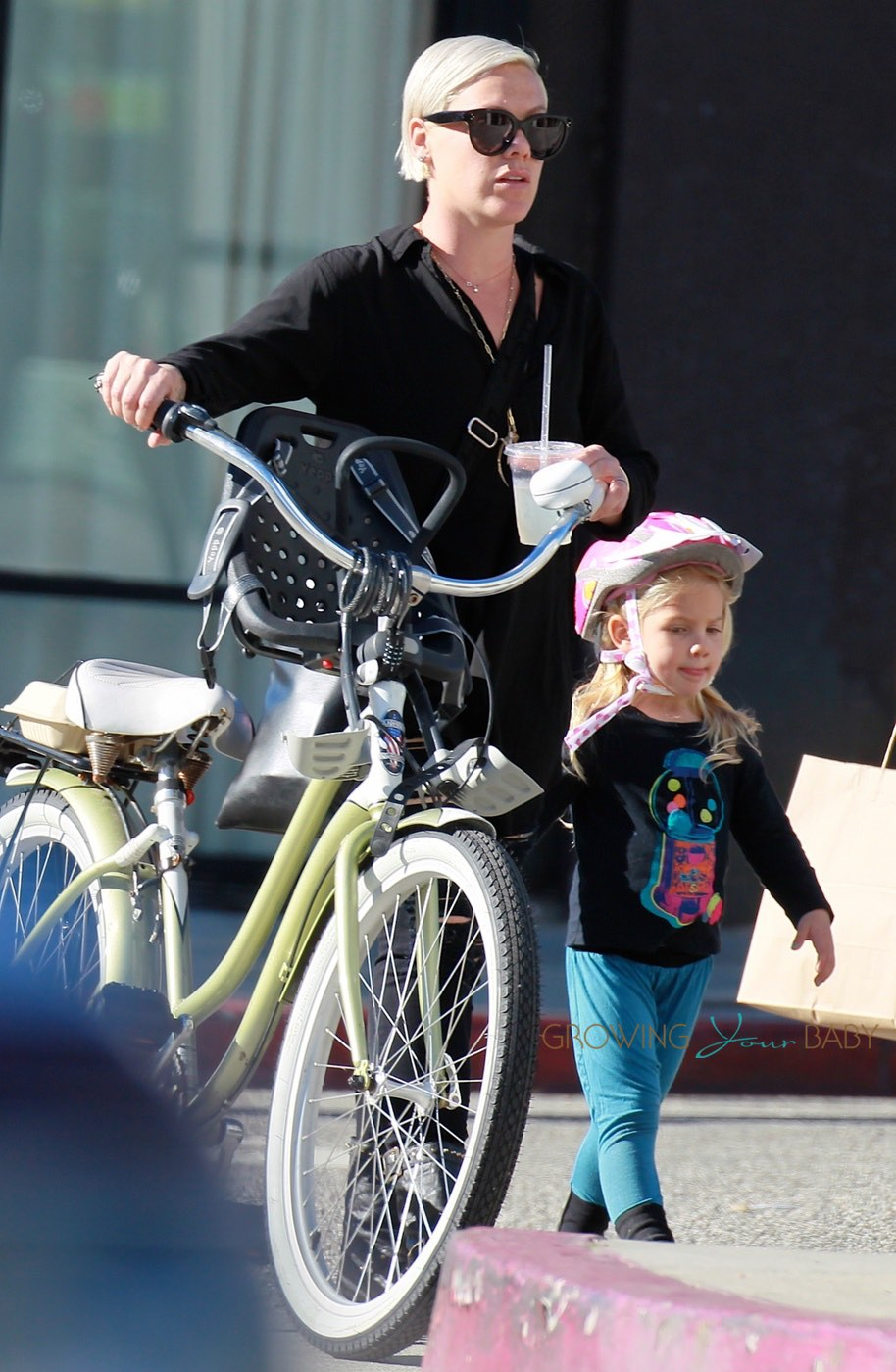 Pink Takes Daughter Willow For A Bike Ride In La Growing