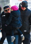 Pink & Carey Hart with daughter Willow in NYC