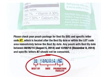 Plum Organics Recall 2013