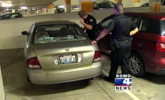 Police breaking into Matt Steele's car