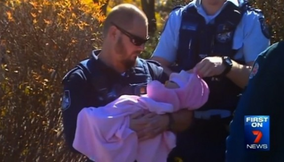 Police rescue baby left in hot car