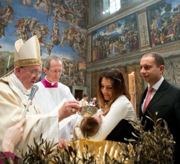 Pope Francis baptism
