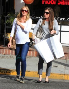 Pregnant Actress Emily Blunt out shopping in LA