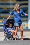 Pregnant Ali Larter out at the market in LA