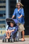 Pregnant Ali Larter shops at the farmer's market in LA with son Theodore
