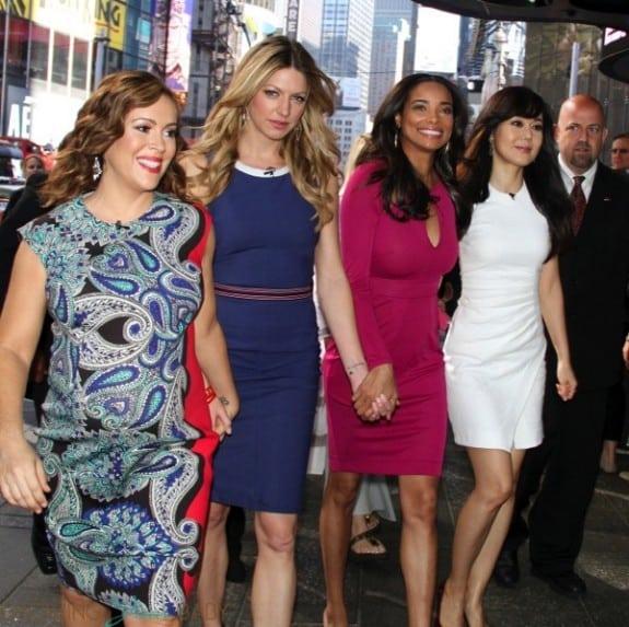 Pregnant Alyssa Milano, Jes Macallan, Rochelle Ayte, Yunjin Kim promote Mistresses