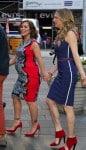 Pregnant Alyssa Milano, Jes Macallan promote Mistresses