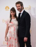 Pregnant Amanda Peet at the 66th Annual Primetime Emmy Awards with husband David Benioff