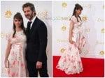 Pregnant Amanda Peet at the 66th Annual Primetime Emmy Awards with husband David Benioff