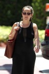 Pregnant Ashley Hebert out running errands in Miami