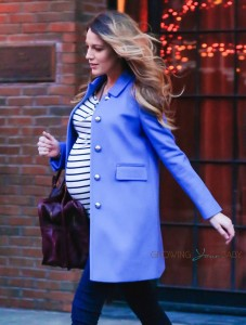 Pregnant Blake Lively out in New York City
