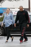 CaCee Cobb shows off her baby bump as she goes out with hubby Donald Faison for a coffee in LA