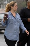 CaCee Cobb shows off her baby belly as she goes out with hubby Donald Faison for a coffee in LA