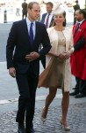 Pregnant Catherine Middleton & Prince William at 60th Anniversary of the Coronation Service