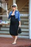 Pregnant Christina Aguilera out in LA