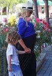 Pregnant Christina Aguilera out in LA with son Max