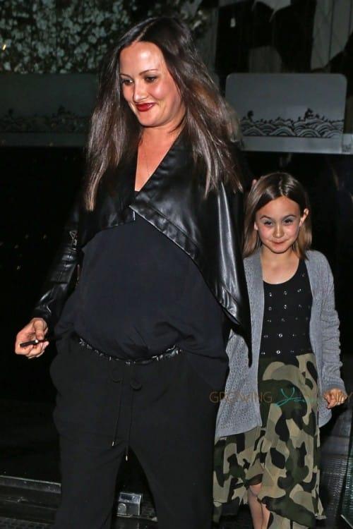 Pregnant Christina McLarty and Coco Arquette Leave Mr. Chows in LA