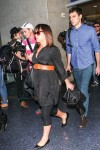 Pregnant Christina Ricci & James Heerdegen at LAX