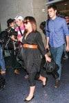 Pregnant Christina Ricci & James Heerdegen at LAX