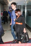 Pregnant Christina Ricci and James Heerdegen at LAX