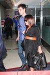 Pregnant Christina Ricci and James Heerdegen at LAX