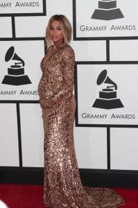 Pregnant Ciara at the Grammy Awards 2014