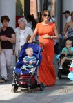 Pregnant WAG Danielle O'Hara does a spot of shopping in Liverpool with her mum and kids in tow