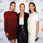 Pregnant Doutzen Kroes at Every Mom Counts event with Christy Turlington