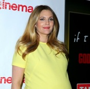 Drew Barrymore Shows Off Her Growing Belly At CinemaCon 2014