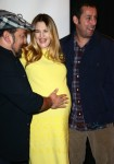 Pregnant Drew Barrymore with  Adam Sandler and Frank Coraci at CinemaCon 2014 t