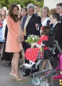 Catherine, Duchess of Cambridge visits Naomi House Children's Hospice