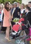 Catherine, Duchess of Cambridge visits Naomi House Children's Hospice