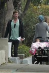 Pregnant Elsa Pataky and husband Chris Hemsworth out with daughter India Hemsworth in LA