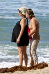 Pregnant Elsa Pataky at the beach