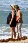 Pregnant Elsa Pataky at the beach