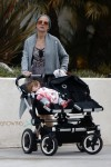Pregnant Elsa Pataky pushes daughter India Hemsworth in LA