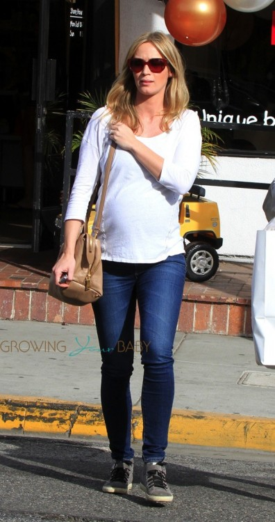 Pregnant Emily Blunt out shopping in LA