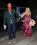Pregnant Gwen Stefani and husband Gavin Rossdale Attending a baby shower in LA