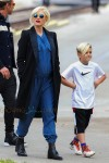 Pregnant Gwen Stefani out with Gavin and Kingston Rossdale