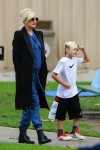 Pregnant Gwen Stefani out with Kingston Rossdale