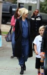 Pregnant Gwen Stefani out with Kingston Rossdale in LA