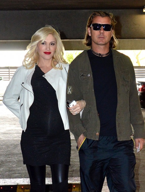 Pregnant Gwen Stefani out with husband Gavin Rossdale